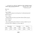 Đề kiểm tra 1 tiết môn Địa lý 8 năm 2011-2012 có đáp án – THCS Nguyễn Tri Phương