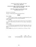 Đề tốt nghiệp CĐ nghề khoá 2 Điện công nghiệp (2008-2011) - Mã: ĐCN - LT 19 - Phần lý thuyết (kèm Đ.án)