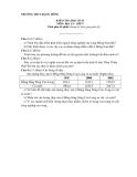 Đề kiểm tra HK2 Địa 9 – THCS Rạng Đông (kèm đáp án) - Đề 1