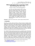 Effects of Disruptive Events on Consumer Loyalty: Bank Switching After 2008's Crisis
