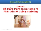 Bài giảng Quản trị marketing: Chương 3 - Lê Quang Trực