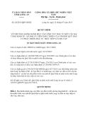 Quyết định 26/2013/QĐ-UBND tỉnh Long An