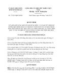 Quyết định 37/2013/QĐ-UBND tỉnh Ninh Thuận