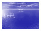 Bài giảng Nguyên lý và dụng cụ cắt: Chương 4 - Cao Thanh Long