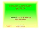 Bài giảng Khoa học Quản lí: Chương 2 - Lịch sử tư tưởng của KHQL