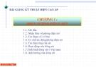 Bài giảng Kỹ thuật điện cao áp: Chương 1 - Hiện tượng dông sét