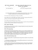 Quyết định số 52/2013/QĐ-TTg do Thủ tướng Chính phủ ban hành