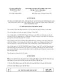 Quyết địnhsố 24/2013/QĐ-UBND tỉnh Đồng Tháp