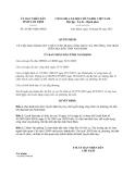 Quyết định 29/2013/QĐ-UBND tỉnh Nam Định