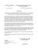 Thông báo số 312/TB-VPCP do Văn phòng Chính phủ ban hành