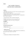 Giáo án GDCD 8 bài 12: Quyền và nghĩa vụ của công dân trong gia đình