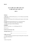 Giáo án GDCD 8 bài 20: Hiến pháp nước Cộng hòa xã hội chủ nghĩa Việt Nam