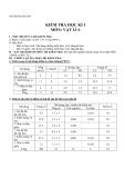 Đề kiểm tra HK Lý 6 - Kèm Đ.án