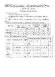 Đề và đáp án kiểm tra học kì II môn Vật lý lớp 6 - Tiết 19 đến tiết 33 - Đề cơ bản