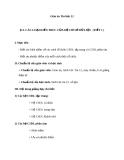 Giáo án Tin học 12 bài 12: Các loại kiến trúc của hệ cơ sở dữ liệu