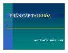 Bài giảng Phân cấp tài khóa - Nguyễn Hồng Thắng, UEH
