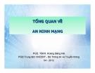 Bài giảng Tổng quan về an ninh mạng - PGS. TSKH. Hoàng Đăng Hải