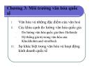 Bài giảng Quản trị kinh doanh quốc tế: Chương 3 - GV. Nguyễn Hùng Phong