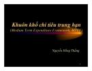 Bài giảng Khuôn khổ chi tiêu trung hạn - Nguyễn Hồng Thắng