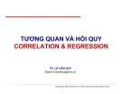 Bài giảng Tương quan và hồi quy - TS. Lê Văn Huy