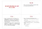 Bài giảng Hệ giải toán hình học giải tích 3 chiều
