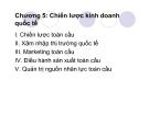 Bài giảng Quản trị kinh doanh quốc tế: Chương 5 - GV. Nguyễn Hùng Phong