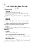 Giáo án GDCD 12 bài 3: Công dân bình đẳng trước pháp luật