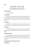 Giáo án GDCD 10 bài 3: Sự vận động và phát triển của thế giới vật chất
