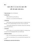 Giáo án GDCD 10 bài 7: Thực tiễn và vai trò của thực tiễn đối với nhận thức