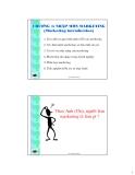Bài giảng Nguyên lý marketing: Chương 1 - Ths.Đinh Tiến Minh