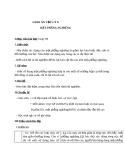 Giáo án Vật lý 6 bài 14:  Mặt phẳng nghiêng