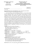Đề kiểm tra HK 1 Tiếng Anh 12- Sở GD&ĐT Đồng Tháp (2012-2013) đề 234