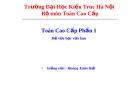 Bài giảng Toán cao cấp về số phức - GV.Hoàng Xuân Hải