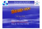 Bài giảng Tĩnh điện học: Phần II - ĐHBK TP.HCM