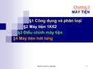 Bài giảng Máy công cụ: Chương 3 - ĐHBK TP.HCM