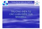 Bài giảng Tĩnh điện học: Phần XIV - ĐHBK TP.HCM