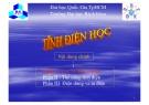 Bài giảng Tĩnh điện học: Phần I - ĐHBK TP.HCM