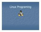Bài giảng Tổng quan về Linux - Chương 12: Linux Programing