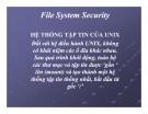 Bài giảng Tổng quan về Linux - Chương 11: File System Security