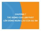 Bài giảng Lập và phân tích dự án: Chương 7 - Lê Hoàng Cẩm Phương