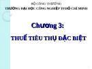 Bài giảng Thuế ứng dụng: Chương 3 - ThS. Văn Thị Quý