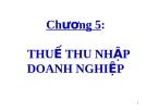 Bài giảng Thuế ứng dụng: Chương 5 - ThS. Văn Thị Quý