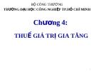 Bài giảng Thuế ứng dụng: Chương 4 - ThS. Văn Thị Quý
