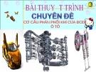 Bài thuyết trình: Cơ cấu phân phối khí của động cơ đốt trong ô tô
