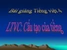 Bài giảng Luyện từ và câu: Cấu tạo của tiếng - Tiếng việt 4 - GV.N.Hoài Thanh