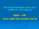 Bài giảng Chính tả: Cháu nghe câu chuyện của bà - Tiếng việt 4 - GV.N.Hoài Thanh