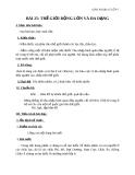 Giáo án Địa lý 7 bài 25: Thế giới rộng lớn và đa dạng