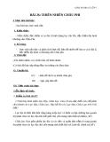Giáo án Địa lý 7 bài 26: Thiên nhiên châu Phi