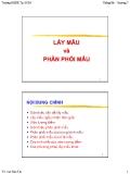 Bài giảng Lấy mẫu và phân phối mẫu - Cao Hào Thi
