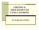Bài giảng Phân tích chính sách thuế: Chương 4 - Ts. Lê Quang Cường